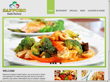 Sapporo Website Sample